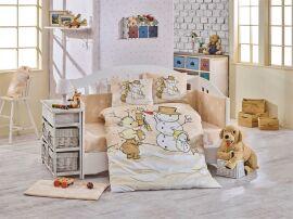 Постельное белье в кроватку Hobby Snowball бежевое Детский комплект от Podushka