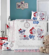 Детское постельное белье Victoria Pink station Детский комплект от Podushka