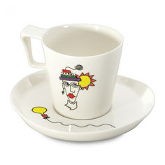 Акция на Набор чашка с блюдцем для завтрака 400мл Eclipse Berghoff 3705008 от Podushka