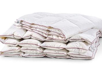 Акция на Одеяло для детей пуховое кассетное Зима DeLuxe белый пух 98% MirSon 030 зимнее 110х140 см вес 490 г от Podushka
