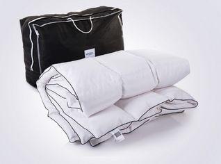 Детское демисезонное пуховое кассетное одеяло MirSon Royal белый пух 98% Премиум 033 демисезонное 110х140 см вес 460 г. от Podushka