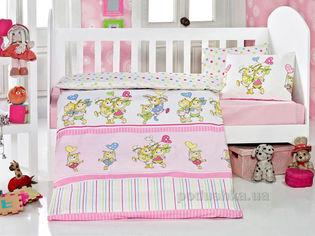 Акция на Детское постельное белье Eponj Pitircik pembe Детский комплект от Podushka