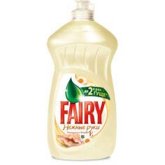 Средство для мытья посуды Fairy Нежные руки Ромашка и витамин Е 500мл 5413149477728 от Podushka
