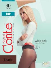 Акция на Колготки светло-коричневые женские 40 Den низкая талия Top Conte 8С-64СП Shade 4 от Podushka