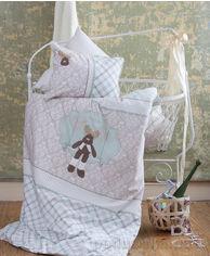 Постельное белье в кроватку Karaca Deer зелёный Детский комплект от Podushka