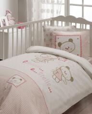 Спальный комплект в кроватку Karaca Stelle розовый - 7 предметов от Podushka