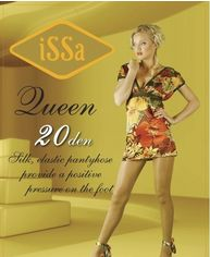 Колготки ISSA PLUS Queen 20  5 черный от Issaplus