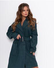 Пальто ISSA PLUS 11091  S темно-зеленый от Issaplus