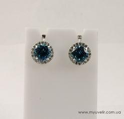 Сережки Серебро С Голубыми Камнями от Мой Ювелир