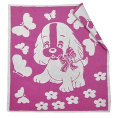 Одеяло детское WOT Собачка фуксия 100х118 см от Podushka