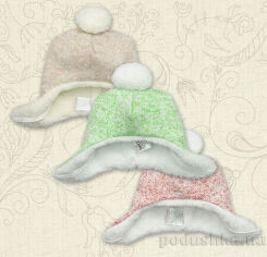 Акция на Шапка для малышей Меланжик Бетис вязаное полотно-махра Размер 62 -40 цвет кофейный от Podushka
