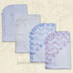 Крыжма для новорожденного Святкова Бетис миткаль  цвет голубой от Podushka