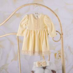 Платье с длинным рукавом для девочки Арина Бетис велюр 62 цвет кофейный от Podushka