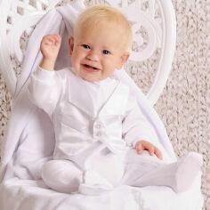 Комплект крестильный для мальчика Модный карапуз 03-00454 Белый 68-74 от Podushka