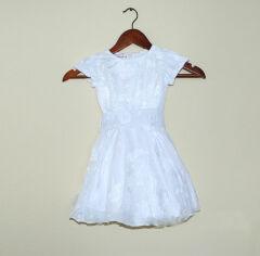 Акция на Платье для девочки с вышивкой Bimbissimi ПЛ-1501 белое 86 от Podushka