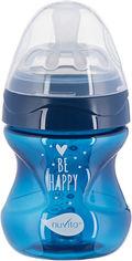 Акция на Детская Антиколиковая бутылочка для кормления Nuvita Mimic Cool 150 мл Темно-синяя (NV6012NIGHTBLUE) от Rozetka