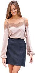 Блузка Jadone Fashion Паула S (42) Бежевая (ROZ6400002231) от Rozetka