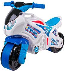 Беговел ТехноК Мотоцикл Бело-синий (5125) (4823037605125) от Rozetka