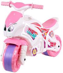 Беговел ТехноК Мотоцикл Бело-розовый (5798) (4823037605798) от Rozetka