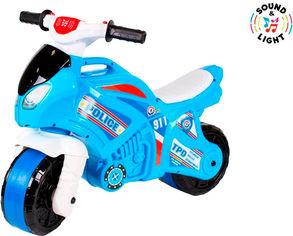 Беговел ТехноК Мотоцикл Голубой с белым (5781) (4823037605781) от Rozetka
