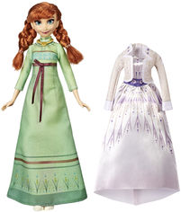 Кукла Hasbro Frozen Холодное сердце 2 Анна с дополнительным нарядом (E5500_E6908) (5010993605309) от Rozetka