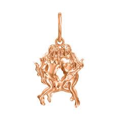 Кулон из красного золота Знак Зодиака Близнецы 000121524 000121524 от Zlato