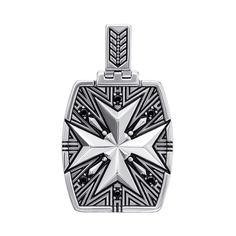 Серебряная подвеска с черной эмалью и черными фианитами 000137607 000137607 от Zlato