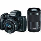 Фотоаппарат CANON EOS M50 + 15-45 мм IS STM + 55-200 мм IS STM Double Kit Black (2680C054) от Foxtrot