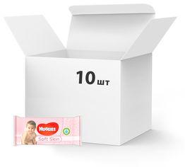 Упаковка влажных салфеток Huggies Soft Skin 10 х 56 шт (5029053550206) от Rozetka