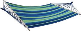 Гамак Kodor 80х200 см с металлическими кольцами Сине-зеленый (ГА80200зел) от Rozetka
