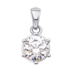 Акция на Кулон из белого золота с кристаллом Swarovski 000133506 000133506 от Zlato