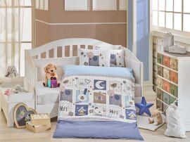 Постельное белье в кроватку Hobby Sweet Home голубое Детский комплект от Podushka