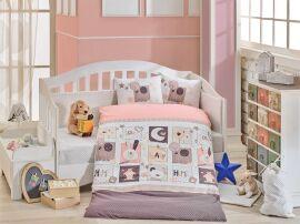 Постельное белье в кроватку Hobby Sweet Home розовое Детский комплект от Podushka