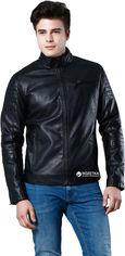 Акция на Кожаная куртка Colin's CL1028719BLK S Black (8682240407546) от Rozetka