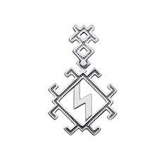 Серебряный кулон-оберег Молния-Перуница 000122158 от Zlato