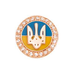 Значок из красного золота с эмалью и фианитами 000129541 000129541 от Zlato