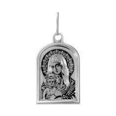 Серебряная ладанка Божия Матерь с насечками 000133765 000133765 от Zlato