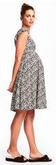 Платье для беременных H&M Mama XAZ105056DOYD XS Белое с черным (DD2000002185611) от Rozetka