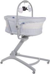 Акция на Кроватка-стульчик Chicco Baby Hug Air 4 в 1 Светло-серая (79193.85.00) (8058664123797) от Rozetka