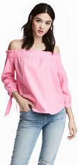 Блузка H&M Divided XAZ062077JETH 32 Белая с розовым (DD2000003900374) от Rozetka