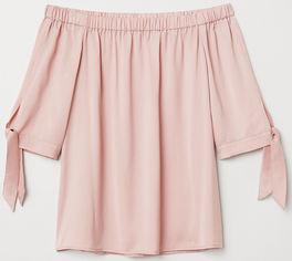 Блузка H&M XAZ124582CBYX 40 Бледно-розовая (DD2000002869832) от Rozetka