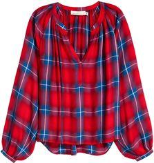 Блузка H&M XAZ100406VOYB 32 Красная с синим (DD2000001901045) от Rozetka