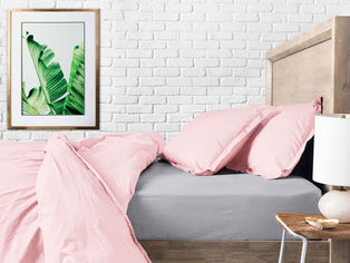 Акция на Комплект постельного белья Cosas Ранфорс Rose El Grey 200х220 (4822052038680) от Rozetka