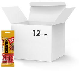 Упаковка кабаносов Дмитрук One Bite Chili из свинины с перцем чили 50 г х 12 шт (4820179000702) от Rozetka