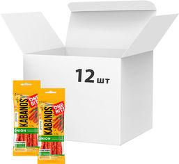 Упаковка кабаносов Дмитрук One Bite Onion из свинины с добавлением лука 50 г х 12 шт (4820179000894) от Rozetka