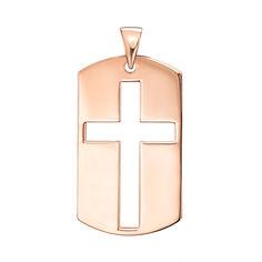 Подвеска из красного золота с крестом 000137727 000137727 от Zlato
