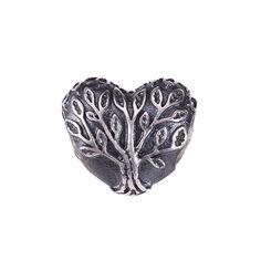 Серебряный подвес-шарм Древо вечной любви в форме сердца с чернением 000071299 от Zlato