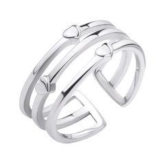 Серебряное кольцо Милые сердечки 000106844 17.5 размера от Zlato