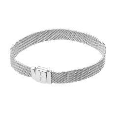 Серебряный широкий браслет Терраса для плоских шармов в стиле Пандора, 7мм 000121324 17.5 размера от Zlato