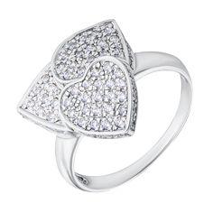Серебряное кольцо с фианитами 000132932 000132932 15.5 размера от Zlato